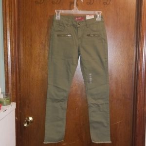 Girls Forest Green Jean's